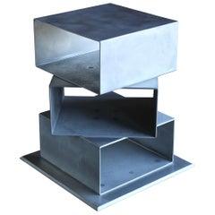 Postmodern Sculptural Aluminum Pedestal, circa 1985