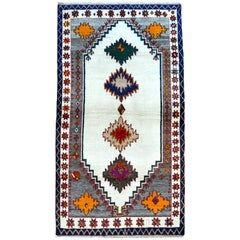 Vintage Persian Gabbeh Carpet, circa 1940 in Pure Handspun Wool and Organic Dyes