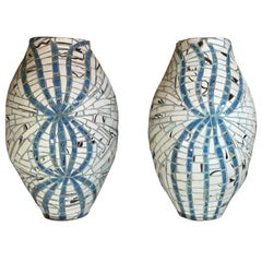 Pair of One of a Kind Two Ways Vessels