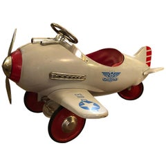 Fantastic Vintage Pursuit Children's Toy Pedal Airplane Car