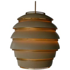 Alvar Aalto First Production Large Beehive Light , Stamped by Maker, 1950s