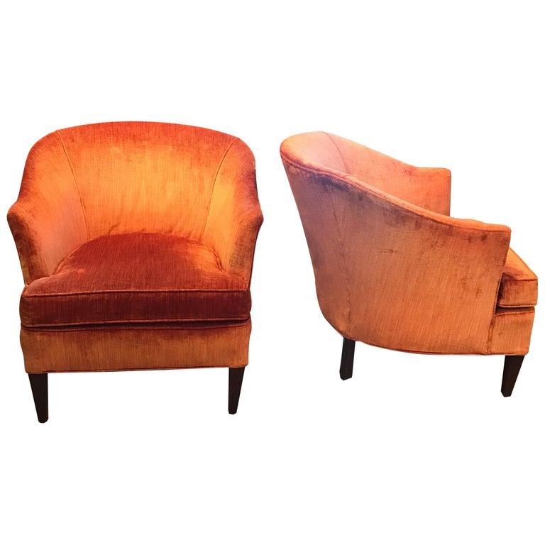 e5c3dec9185ac Pair of Mid-Century Modern Tub Back Club chairs at 1stdibs