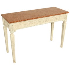 Louis XVI Style Painted Console Table