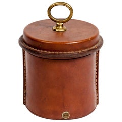 Stitched Leather Box by Jacques Adnet