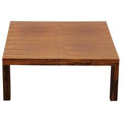 Modern Square Danish Rosewood Coffee Table