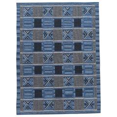 21st Century Modern Scandinavian-Style Flat-Weave Rug