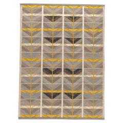 21st Century Modern Scandinavian Style Flat-Weave Rug