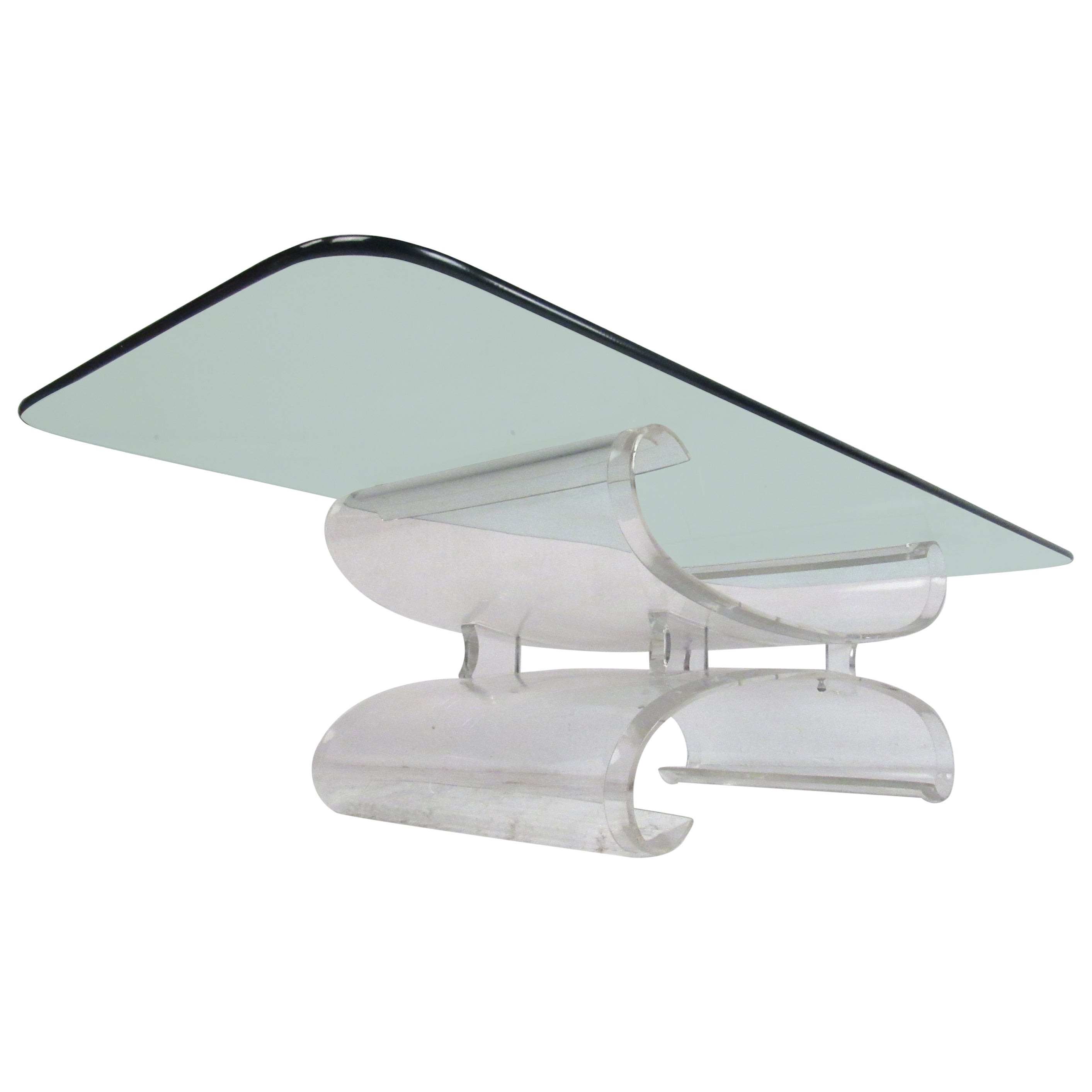 Mid-Century Modern Sculpted Lucite Coffee Table