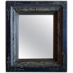 French 19th Century Portrait Mirror with Carved Frame and Original Mirror Glass