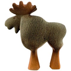 Lisa Larson Gustavsberg Large Moose in Ceramics