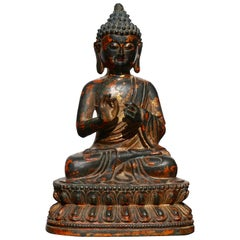 18th Century Shakyamuni Bronze Buddha Statue