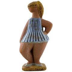 """Rare Figure """"Dora"""", Lisa Larson for Gustavsberg, from the Series """"ABC Flickor"""""""