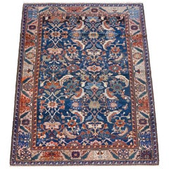 Antique Persian Farahan Sarasar Carpet circa 1880 in Pure Handspun Wool