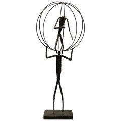 Brutalist Sculpture in the Manner of Giacometti