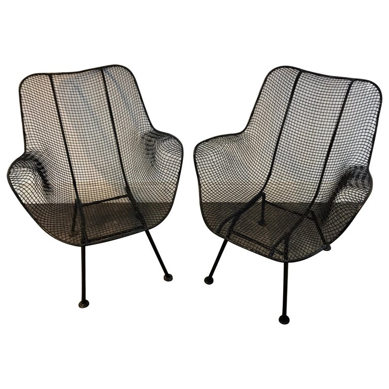 Pair of Sculptra Garden Chairs, by Russell Woodard For Sale