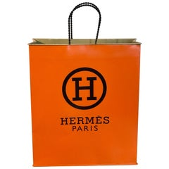 Hermès Display/Prop Tole Shopping Bag
