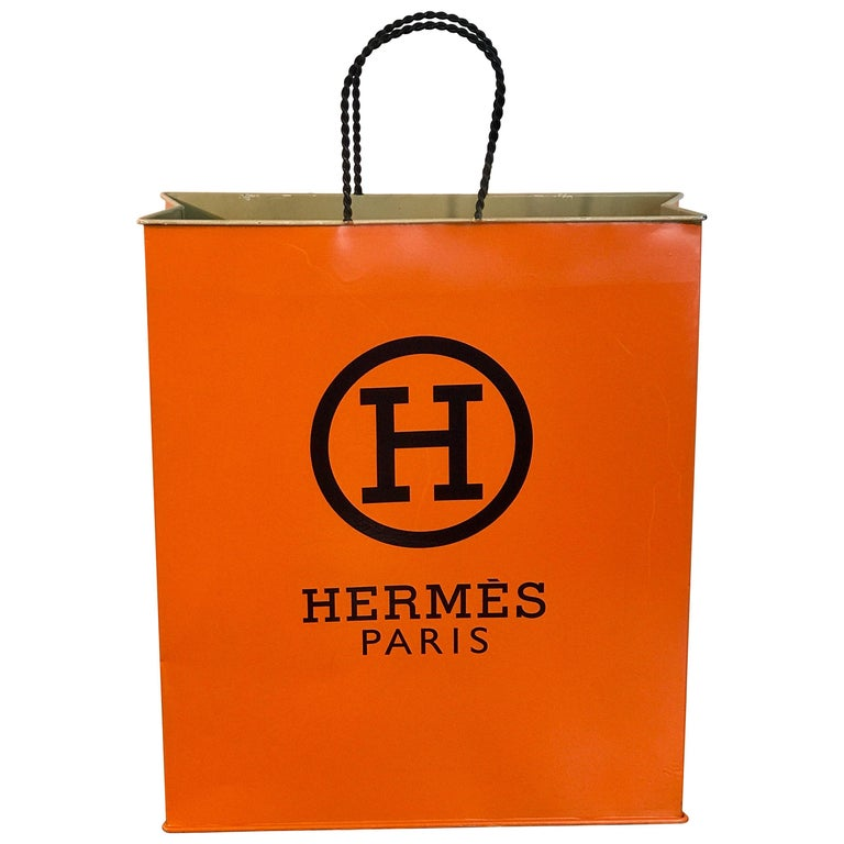 Hermès Display/Prop Tole Shopping Bag For Sale
