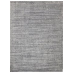 New Transitional Gray Area Rug with Modern Scandinavian Danish Style