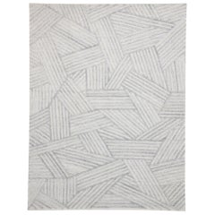 New Contemporary Gray Area Rug with Bauhaus Style, Texture Area Rug