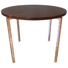 Florence Knoll for Knoll Associates Rosewood & Polished Nickel Round Side Table