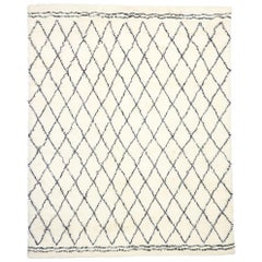 Contemporary Moroccan Style Area Rug with Minimalist Appeal