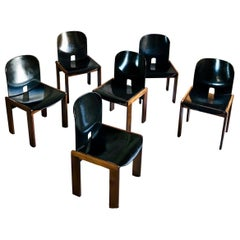 "Afra & Tobia Scarpa Midcentury ""121"" Dining Chair for Cassina, 1965, Set of Six"