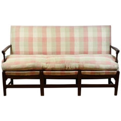 1950s French Upholstered Bench or Sofa in Original Cloth