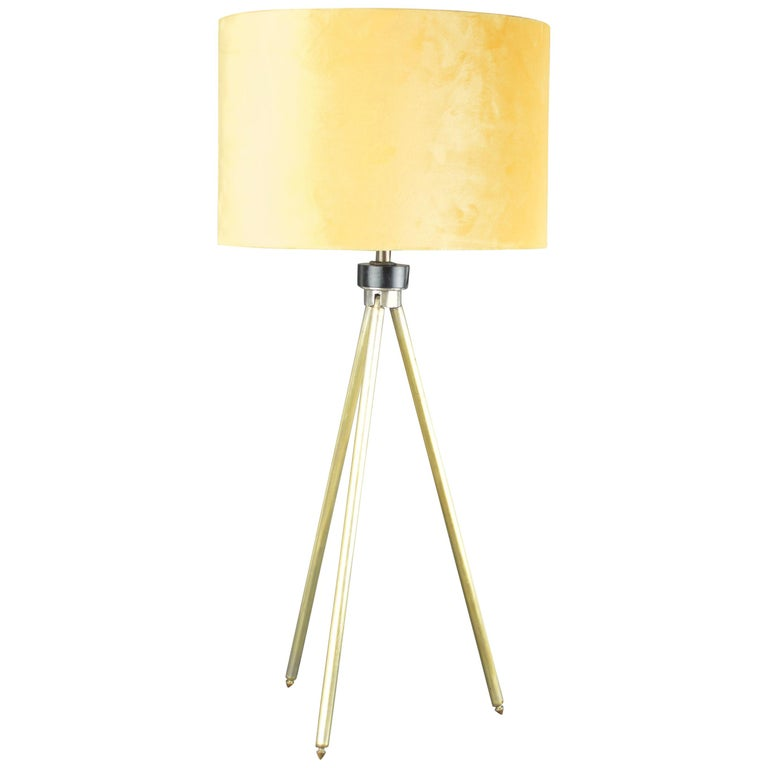 Vintage Midcentury Brass Telescopic Tripod Table Lamp