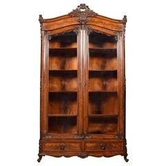 French Mahogany Bookcase