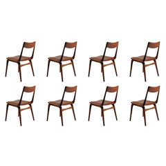 1950s Eight Alfred Christensen Boomerang Chairs in Teak, Choice of Upholstery
