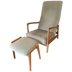 Gio Ponti for Cassina Lounge Chair and Stool No. 829