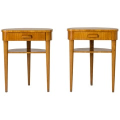 Pair of Elmwood Side Tables from Bodafors