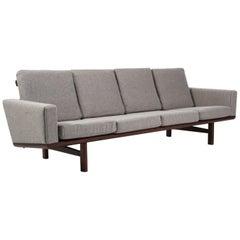 Hans J. Wegner Four-Seat Sofa Model 236/4 Divina Wool and Smoked Oak