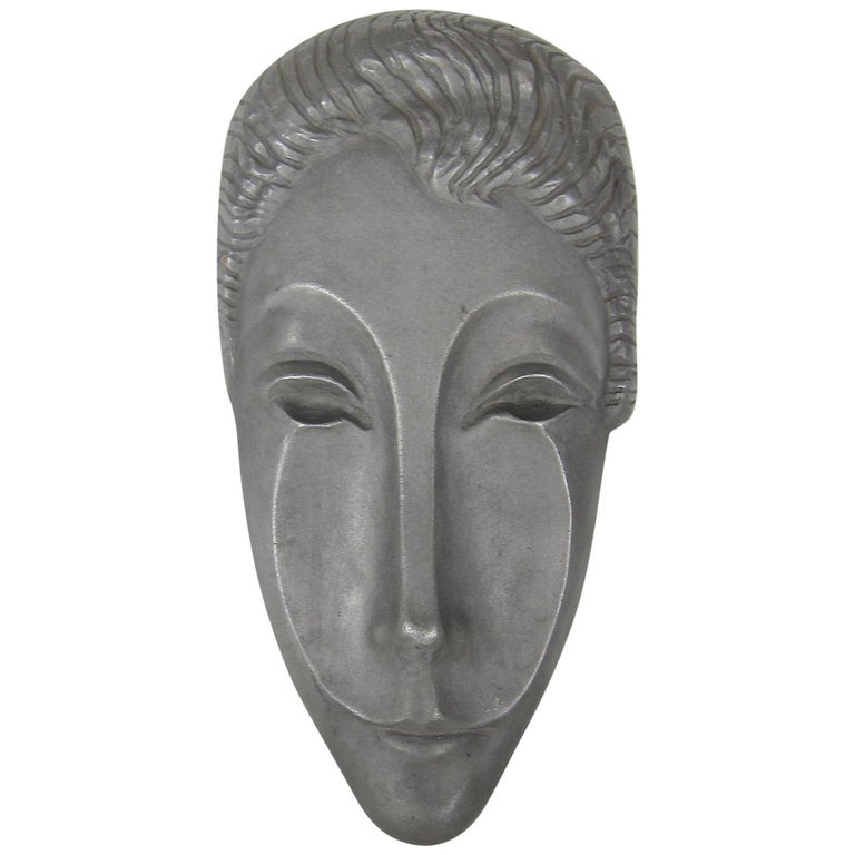 Mid-Century Modern Letitia Mask Sculpture by Evaline Clark Sellors For Sale