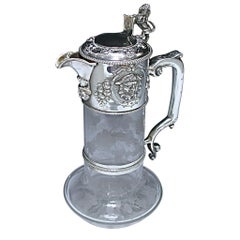Victorian Silver Mounted Claret Jug Made by John Figg in 1858