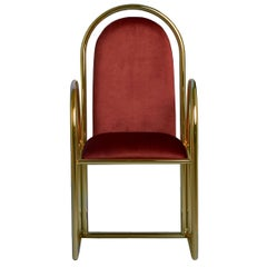 Arco Chair with Velvet Upholstery, New York