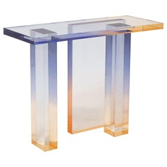 Crystal Series Console Table 04 in Acrylic, New York