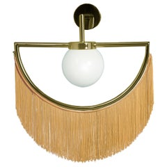 Wink Gold-Plated Wall Lamp with Yellow Fringes, New York