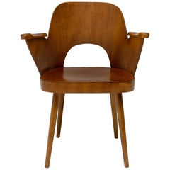 Bent Plywood Desk Armchair by Oswald Haerdtl, 1960s