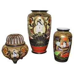 Japanese Porcelain Satsuma Vases