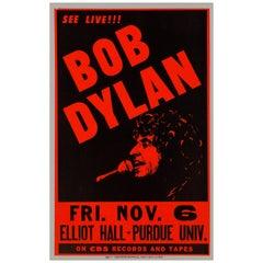 Bob Dylan Original Vintage Concert Poster, Lafayette, Indiana, 1981