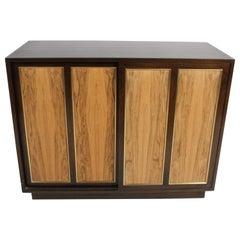 Harvey Probber Rosewood, Brass and Mahogany Dresser