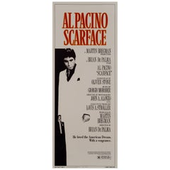 """Scarface"" Original Vintage Movie Poster, American, 1983"