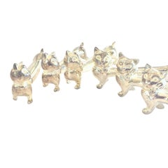 Set of French Art Deco Cat Knife Rests