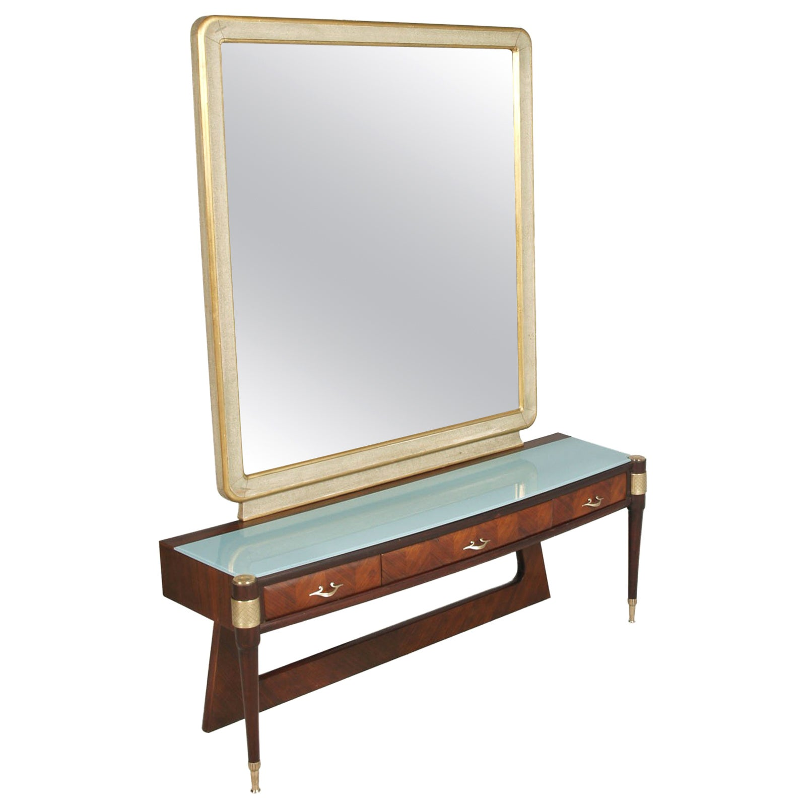 Mid-Century Modern Pier Luigi Colli Mirrored Console, Vanity, Italy, from Cantu