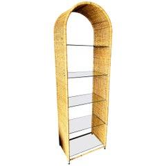 Wicker Bookshelf by Danny Ho Fong for Tropi-Cal