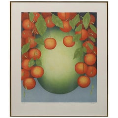 "Color Lithograph ""Fruit"" by Nils Artur Nilsson"