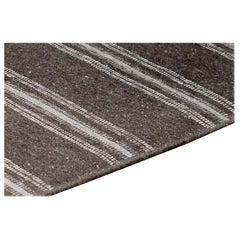 Flat-Woven Wool Striped Rug
