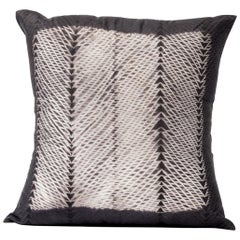 ARA Black Shibori  Silk Pillow