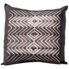 NAAMI Black Shibori Silk Pillow
